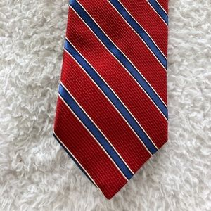 Brooks Brothers Red Blue Stripe Silk Tie